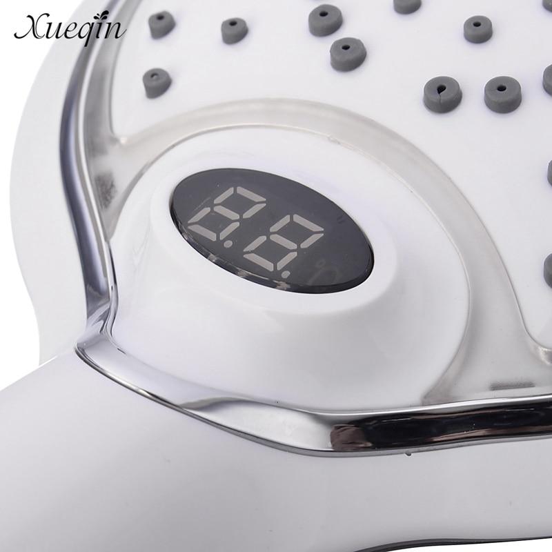 Aliexpress.com : Xueqin 3 Farben Ändern LED Temperatur Digitalanzeige Hand  Badezimmer Duschkopf Wassertemperatur Led Duschkopf Von Verlässlichen Led  Shower ...