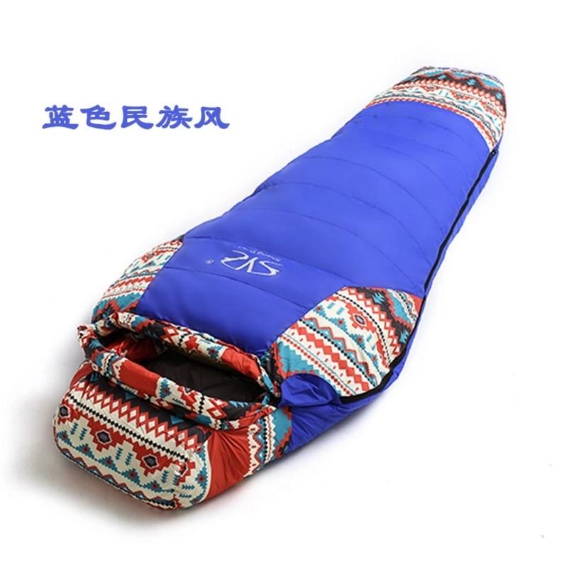 Outdoor Down Sleeping Bag, Waterproof Outdoor Camping Sleeping Bag,210x80x50cm 150g duck down 150g