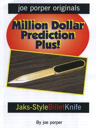 Recommander! Billet couteau Jaks Style par Joe P tour de magie, gros plan magie, mentalisme, magie prophétie, Gimmick