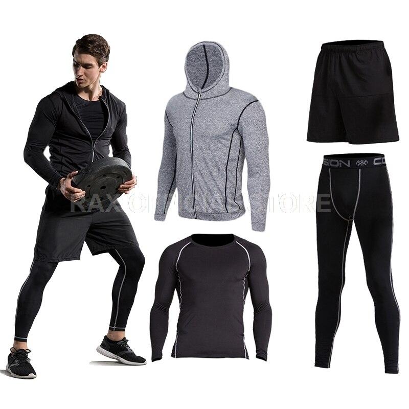 Vansydical 2018 Costume De Sport Des Hommes de Course Costumes de Course De Compression Homme Gym Formation de Course Survêtements Hommes Gym Vêtements