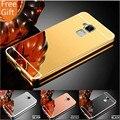 """Для Asus Zenfone 3 Макс ZC520TL Case 3 Макс 5.2 """"тонкий Зеркало Алюминиевый Розовое Золото Задняя Крышка Телефон Case Для Zenfone 3 Макс Cover case"""