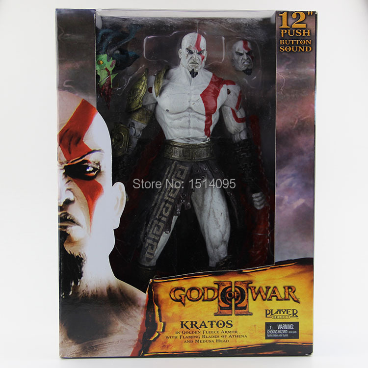 12 NECA Toys God Of War Action Figures 2 Infamous Kratos Figure  PVC Action Figure Model Toy GW005 free shipping god of war anime kratos action figures kratos angry expressions statue mars kratos collection toy fb198