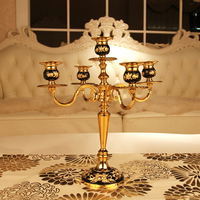 New arrival advanced gold plated candle table vinyl fashion metal mousse home decoration