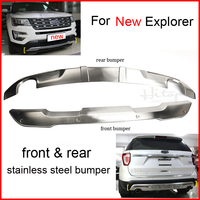Front Rear Bumper Skid Plate For Old New Explorer 2011 2016 Best 304 Stainless Steel Two