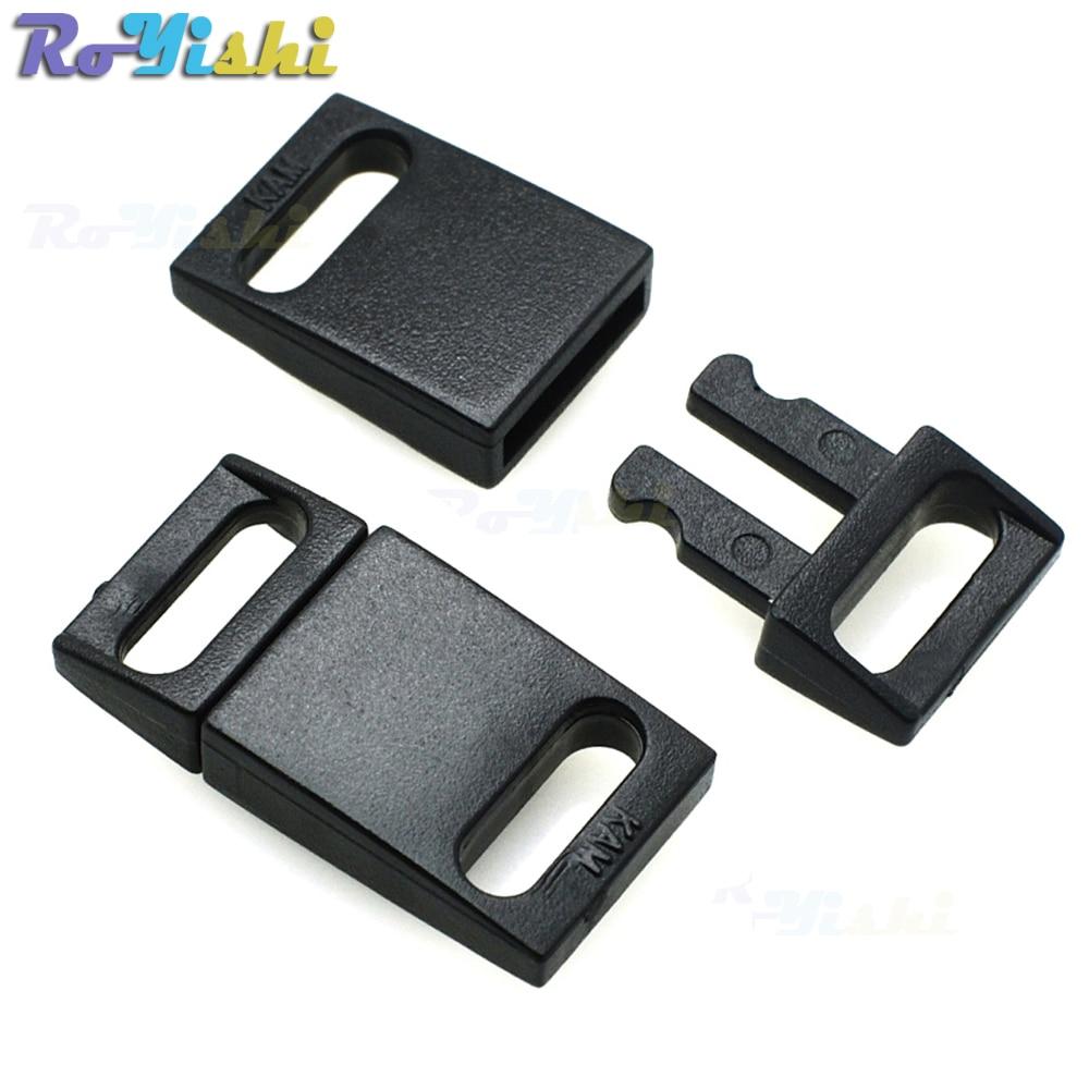 1000pcs pack 3 8 10mm Plastic Safty Breakaway Buckles Black For Bra Cat Collar Paracord Webbing