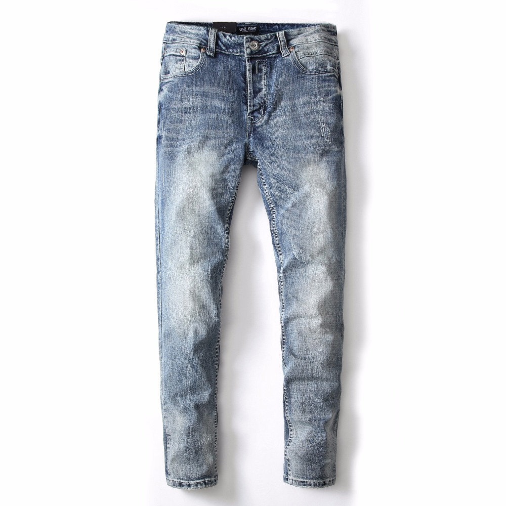 DSEL brand NEW 100% cotton fashion young men denim straight jeans mens skinny jeans ripped jeans high quality men's long pants high quality 2017 new brand men jeans painted print jeans fashion jeans men calca jeans dsq 100