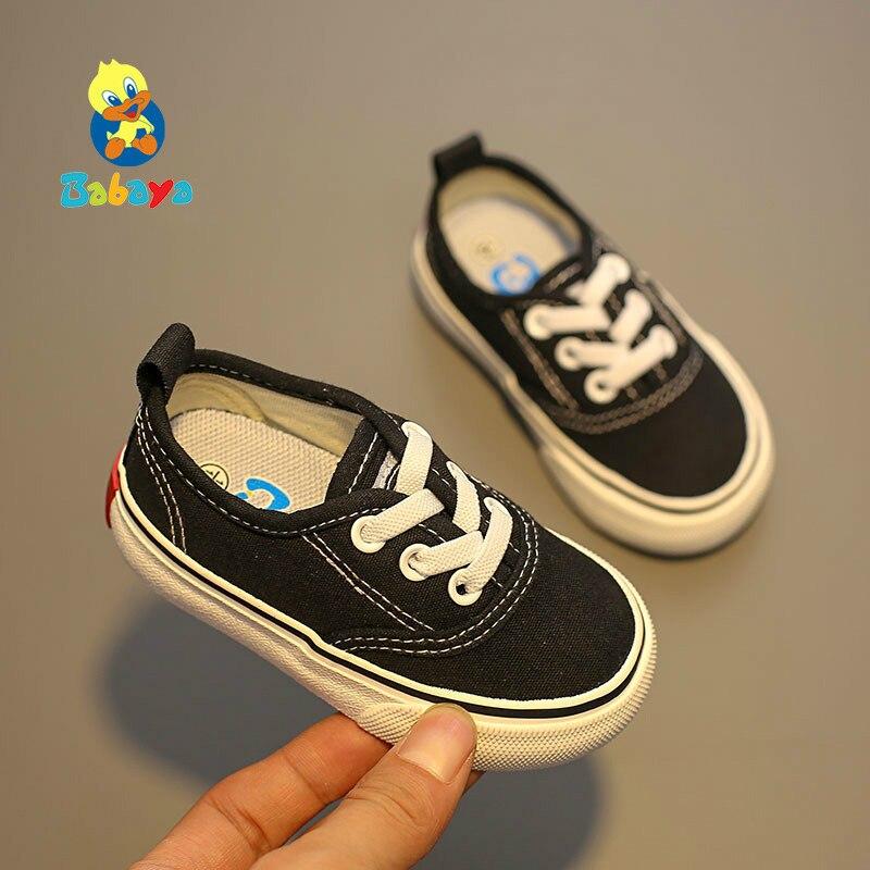 Babaya Toddler Shoes Baby-Girls Breathable Canvas Autumn Boys New Soft-Bottom Children's