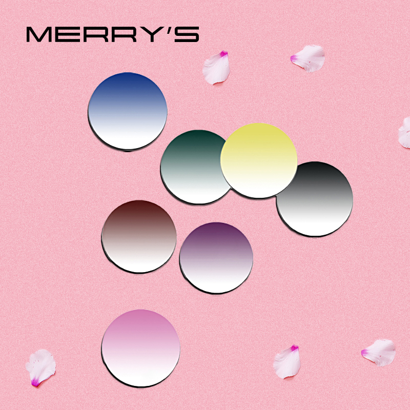 MERRYS Tinted Dyeing Series 1.56 1.61 1.67 Prescription CR-39 Resin Optical Glasses Lenses Myopia Hyperopia Sunglasses Lens