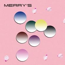 MERRYS Tinted dying Series 1.56 1.61 1.67 처방 CR 39 수지 광학 안경 렌즈 근시 원시 원반 렌즈
