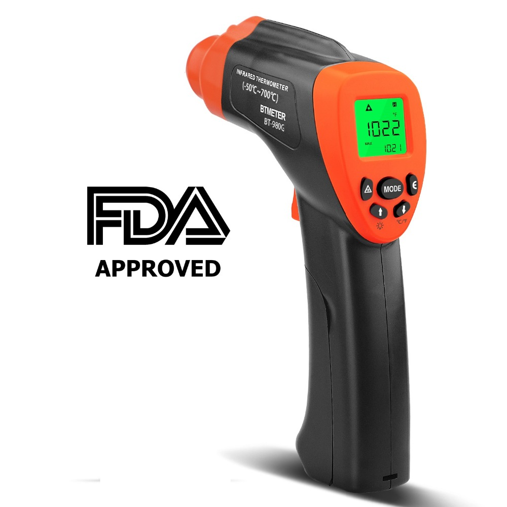 Non-Contact Digital Infrared Thermometer-BTMETER BT-980G High IR Laser Temp Gun for Kitchen Cooking BBQ AutomotiveNon-Contact Digital Infrared Thermometer-BTMETER BT-980G High IR Laser Temp Gun for Kitchen Cooking BBQ Automotive