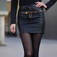 2016 Spring And Autumn Genuine Leather Short Skirt Cute Hip Sheep Genuine Leather Skirt Women S