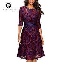 Minifaceminigirl Women S Retro Dress 1950s 50s Elegant Vintage Sexy Lace Prom Party Swing Dress 2017