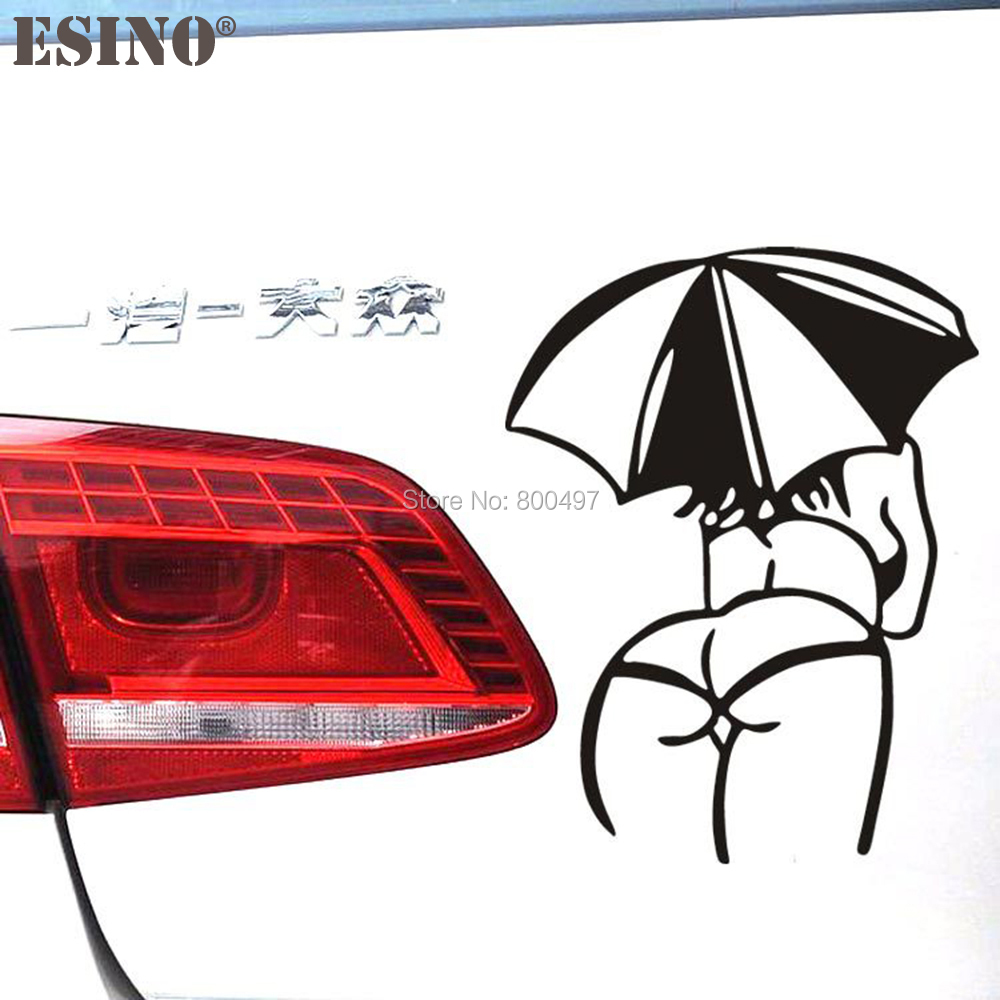 Creative Funny <font><b>Car</b></font> Styling Hot Lady Girl <font><b>Sexy</b></font> <font><b>Woman</b></font> with Umbrella <font><b>Car</b></font> <font><b>Sticker</b></font> Decoration <font><b>Car</b></font> Accessories Cover Decal Vinyl image