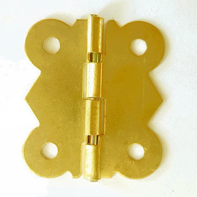 1000pcs 26*30mm 90 Degrees Gold Color Archaize Little Butterfly Hinges  Cabinet Hardware Accessories Lace Copper Hinge Box