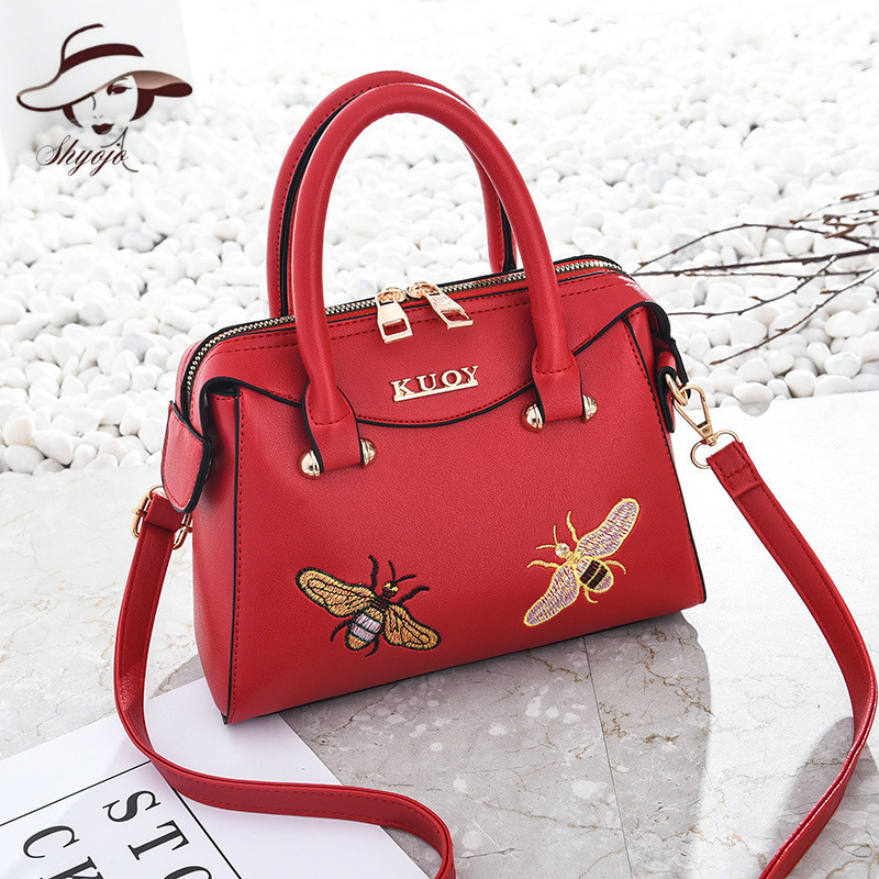 2018 nouvelle mode classique broderie abeille drapeau sac sacs à main femmes Totes dames sacs à bandoulière sac de banlieue sac à main vent chinois sac