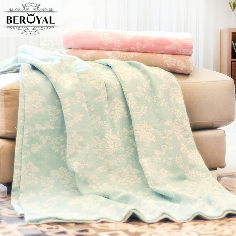 5554e3e52abf Beroyal бренд 180 хлопок одеяло 100% x 220 см пледы одеяло для кровати  мягкие одеяла