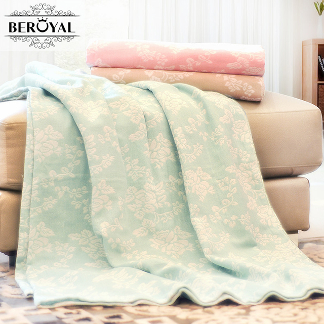 Throw Blankets New Beroyal Brand 60% Cotton Blanket 60x60cm Throw Blanket For Bed