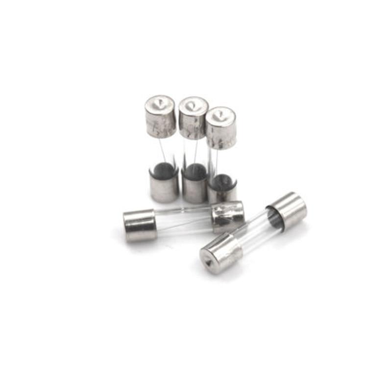 100Pcs//Box 5*20mm 0.5A 250V Fuses 0.5 Amp Glass Tube Fast-Blow Fuse JL