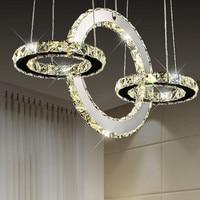 modern crystal LED pendant light bedroom lamp book room lamp simple art restaurant decorateiv pendant lamps ZA923141