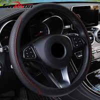 Cubierta del Volante del trenza en la cubierta del Volante del covers Volante Auto cubierta de accesorios de coche