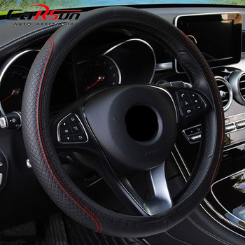 Steering Wheel Cover Braid On The Steering Wheel Cover Cubre Volante Auto Car Wheel Cover Car Accessories car braid on the steering wheel cover for skoda octavia 2014 skoda fabia 2013 auto wheel covers interior accessories car styling