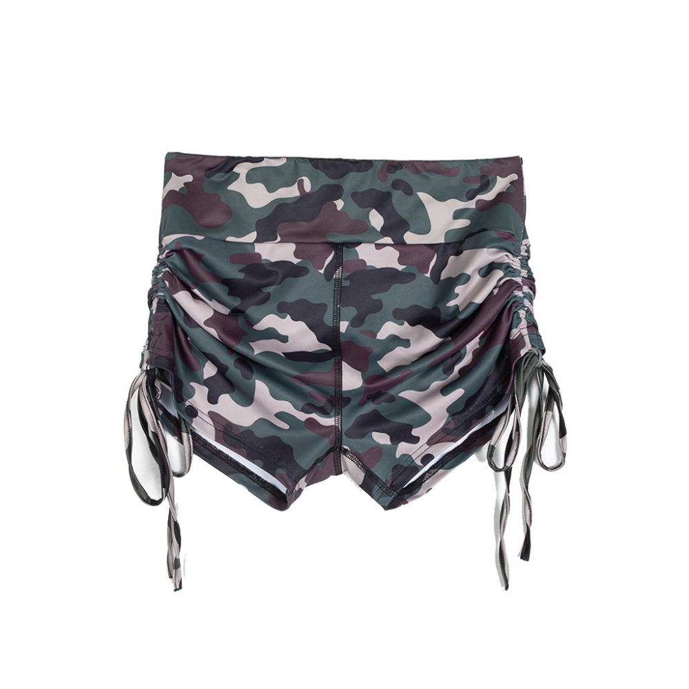 2019 woman sport shorts  Camo slim athletic shorts fashion drawstring design athletic leggings dance fitness shorts 40MA9 (17)