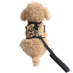 С рисунком пентаграммы жилет маленькая собака Холтер жгут Ведущий ткань нагрудный ремень для собак Cat 6044037 ПЭТ щенок поставки размеры S, M, l