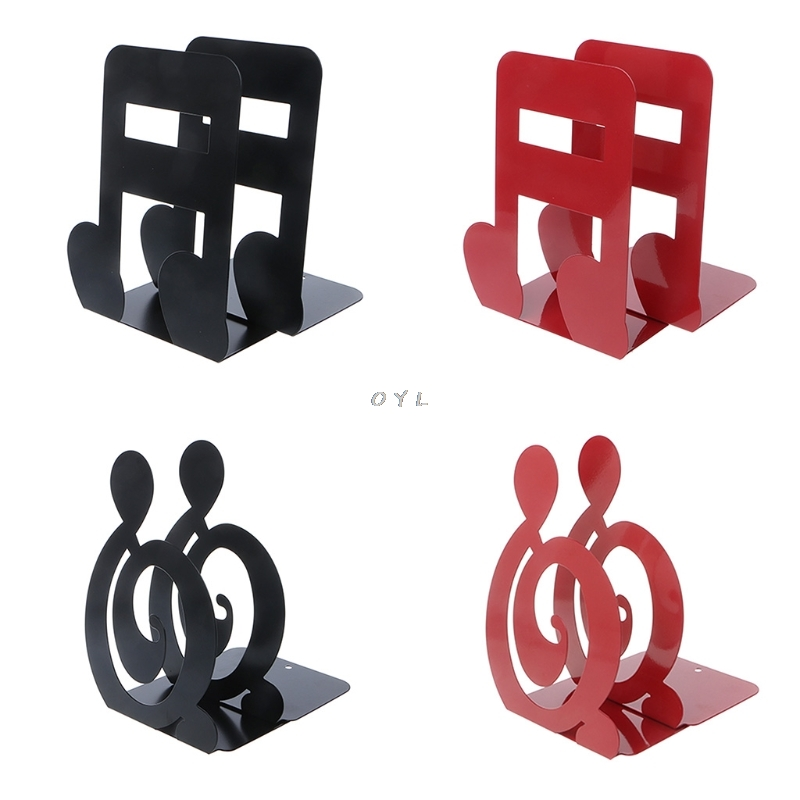 Musical Note Metal Bookends Iron Support Holder Desk Stands For BooksMusical Note Metal Bookends Iron Support Holder Desk Stands For Books