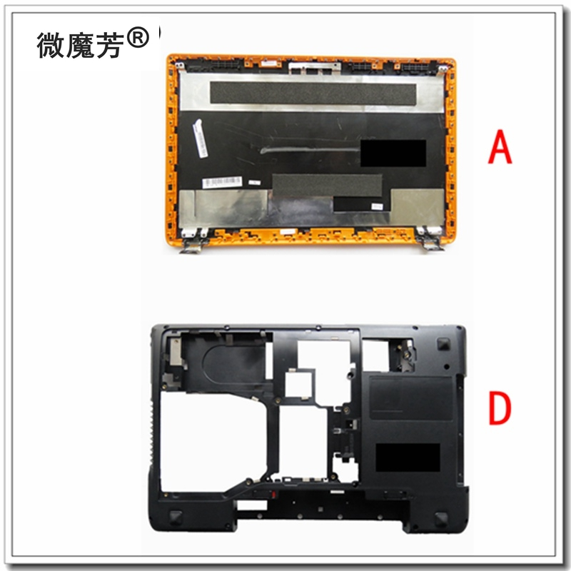 New For Lenovo Y570 Y575 LCD Back Cover + Bottom Base Cover Case AP0HB000820 ACBAS0017B With Graphic Card Switch With HDMI