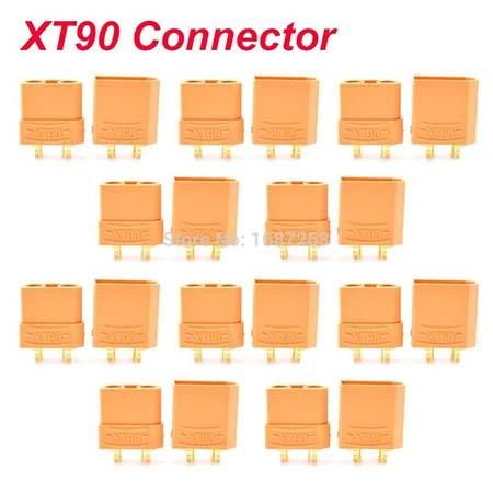 """10 пар XT30 XT30U XT60 XT60H XT90 EC2 EC3 EC5 T разъем батареи набор мужской женский Позолоченный разъем типа """"банан"""" для RC частей - Цвет: 10pairs XT90"""