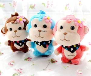 4Colors, Little Cute New Stuffed key chain Plush Toys , baby animal toys dolls(China)