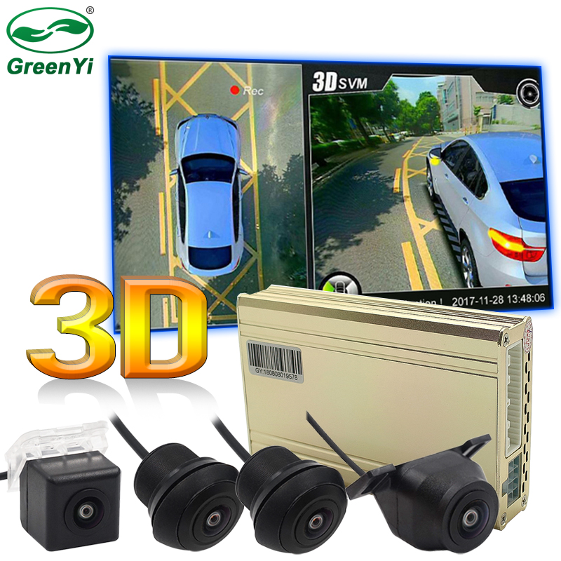 Video-Recorder-System Surround-Bird-View 4-Cameras DVR Panoramic Optional 1080P 3D HD