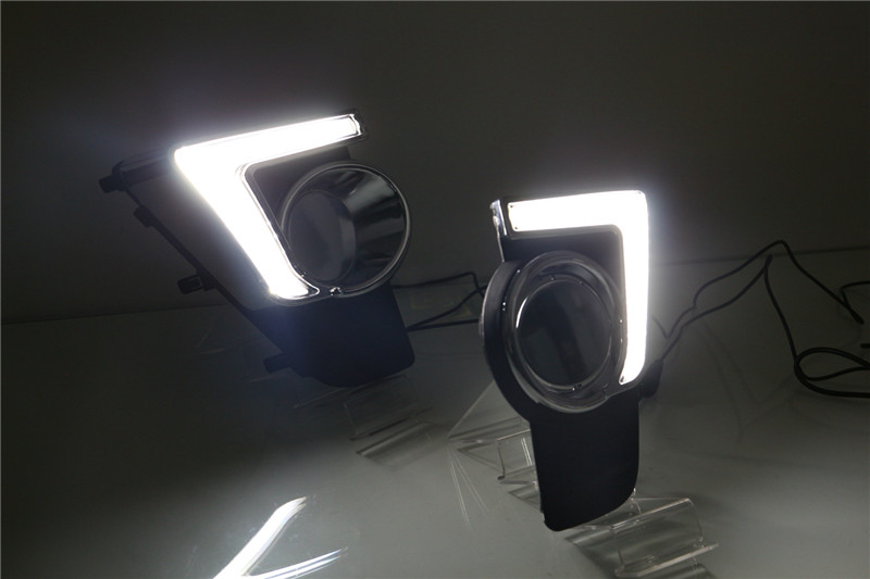 Free shipping for vland car fog lamp for Axia LED DRL 2015 2016 Daytime Running Light plug and play design free shipping vland factory car parts for camry led taillight 2006 2007 2008 2011 plug and play car led taill lights
