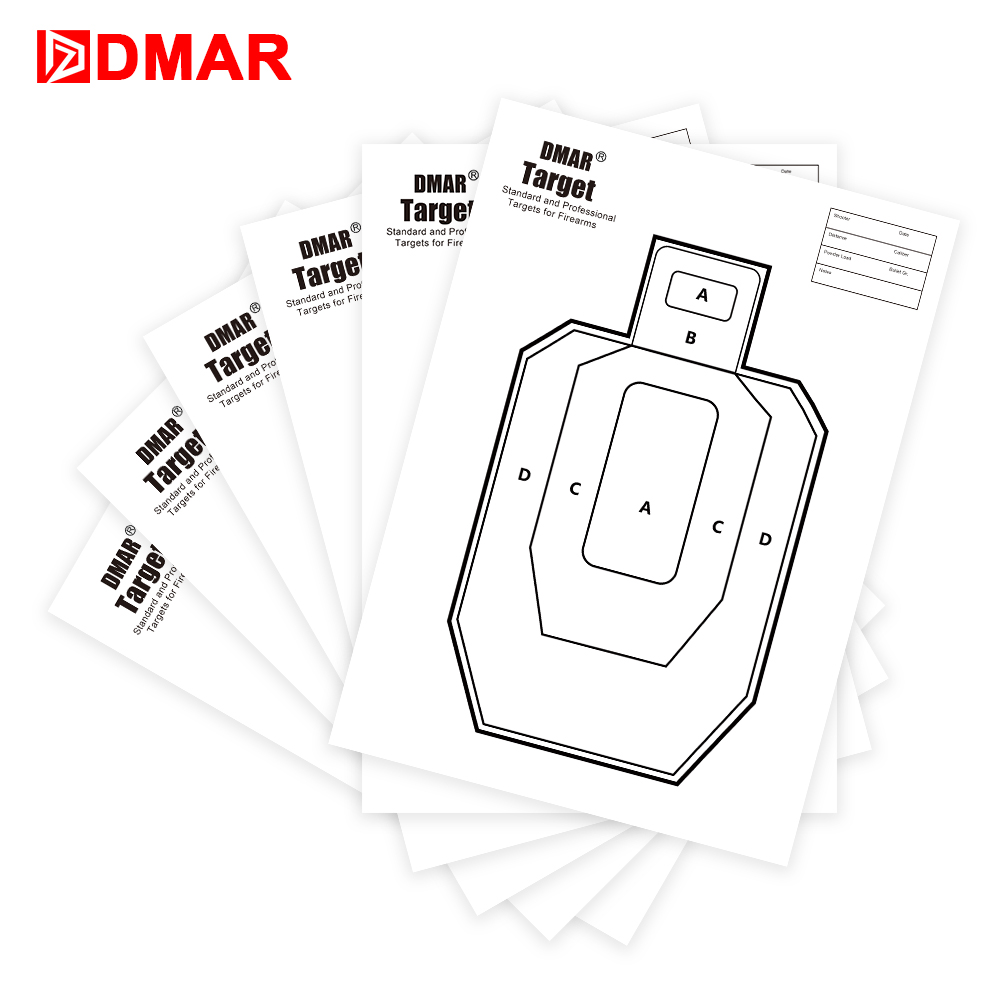 DMAR 42cm Squar Shooting Targets Paper Silhouette Tactical Training Target Range Shooting Airsoft Outdoor Indoor Range Archer