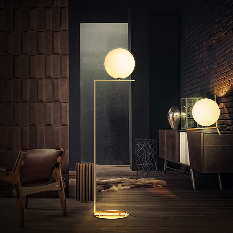 led e27 Postmodern Iron Glass LED Lamp LED Light LED Floor Lamp Floor Light For Foyer Study Dinning Room Bedroom|Floor Lamps| |  - title=
