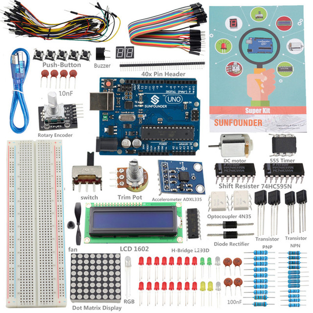 SunFounder Elektronische DIY Kit Neue Uno R3 Projekt Super Starter ...