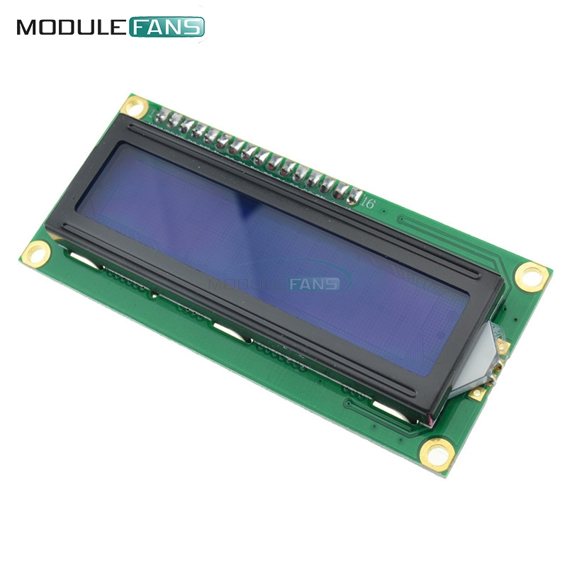 Blue Display IIC/I2C/TWI/SPI Serial Interface 1602 16 X 2 16x2 Character LCD Module new iic i2c twi spi serial interface board module port 5v lcd adapter converter module compatible for lcd1602 2004 lcd