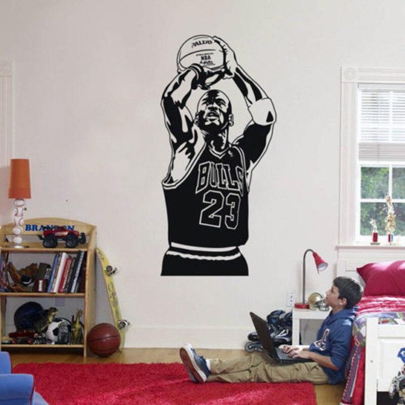 YOYOYU Michael Jordan pared de vinilo pegatinas niños habitación NBA ...