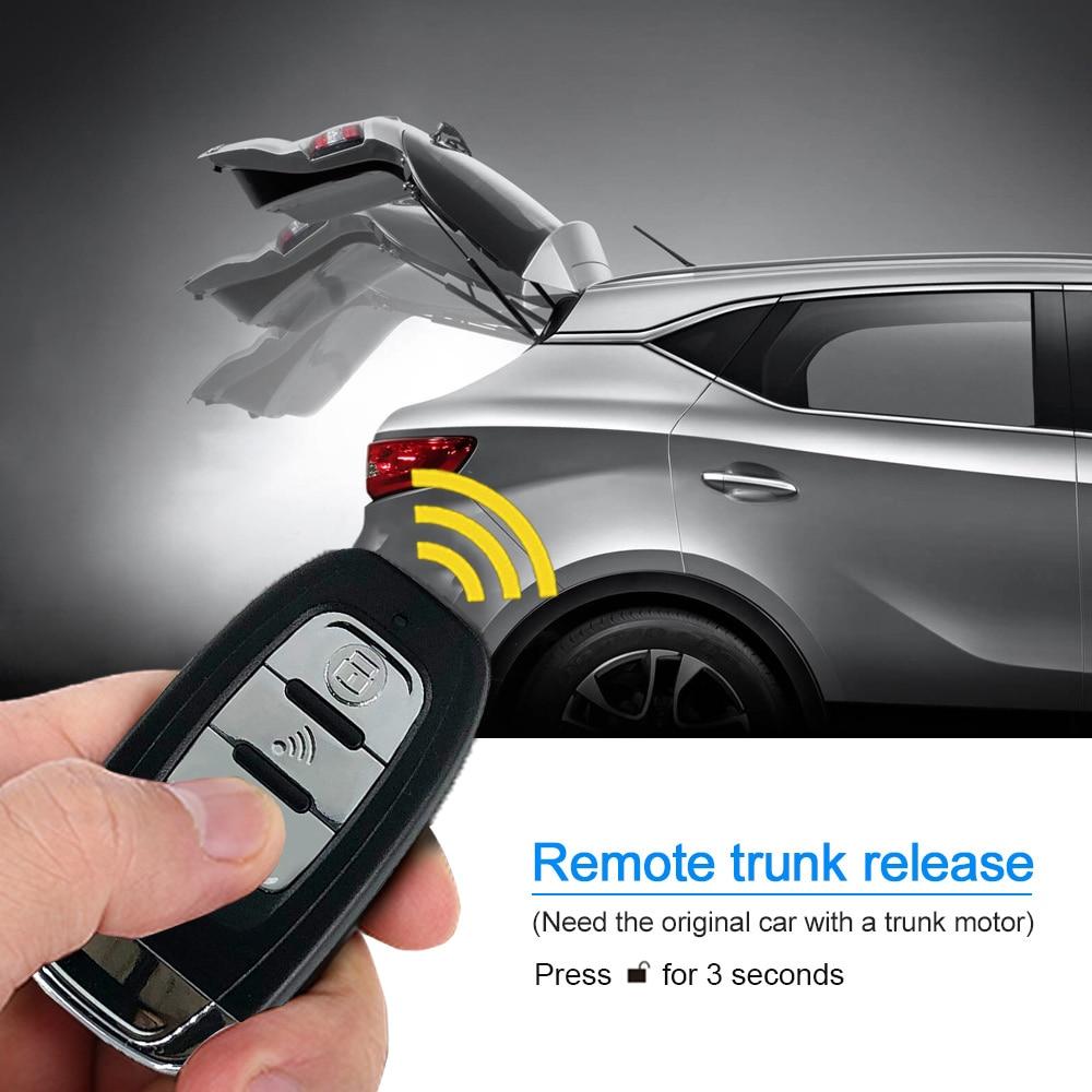 cheapest 9Pcs set Auto Remote Start Car Alarm System Engine Starline Push Button Start Stop SUV PEK Keyless Entry System Car Immobilizers