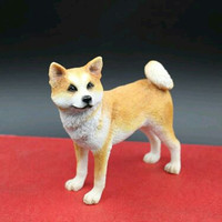Artificial resin Japanese Akita dog figure,car styling home room decoration,doggy lover decorative article Christmas gift toy