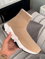 Balck/летние Стрейчевые тканевые носки; ботильоны; женские кроссовки; Eunice Choo; Осенняя обувь без застежки на плоской подошве; легкая повседневн