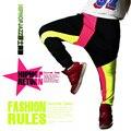 2016 New fashion Harem Hip Hop Dance Pants Sweatpants Costumes Female Stage Performance Wearing harem Neon Jazz trousers