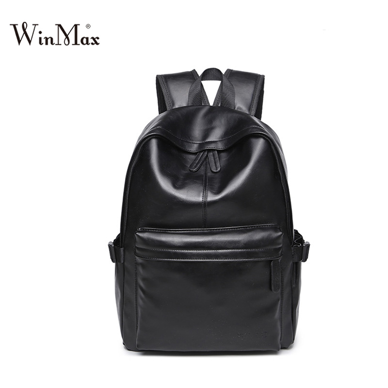 New Travel Backpack Korean Backpack Leisure Student Schoolbag women Soft PU Leather men casual pack Bag dollar price discount korean edition new middle school students college style double shoulder bag leisure pack men and women s travel backpack