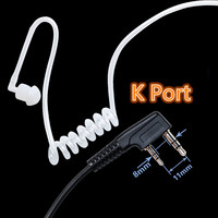 uv 5r uv Baofeng מכשיר הקשר אקוסטית Tube אוזניות מיקרופון 2 לקבלת אפרכסת PIN PTT UV-5R BF-888S שני הדרך רדיו מיקרופון K נמל (2)