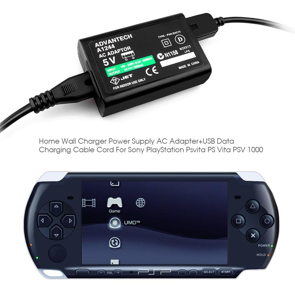Новейшее домашнее настенное зарядное устройство, источник питания, кабель для зарядки и передачи данных для Sony PlayStation For Psv ita PS Vita PSV