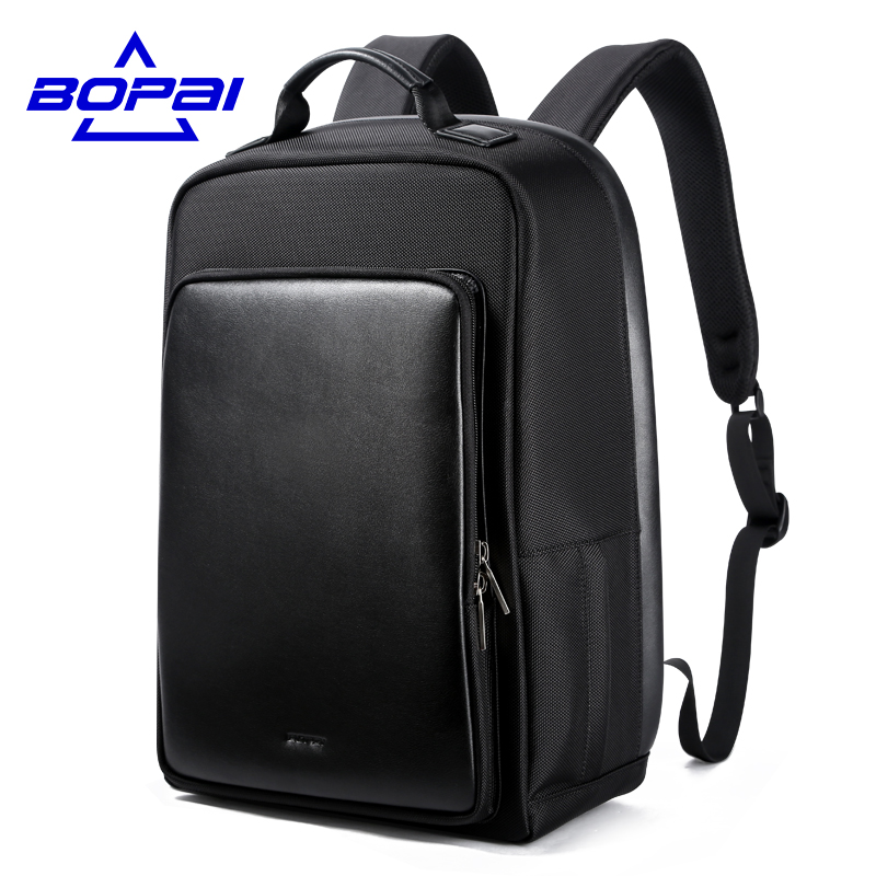 15.6 Laptop Men Backpack Black Male Waterproof Mochilas with Gift Leather Belt Casual Travel Backpack USB Charge Large Bagpack