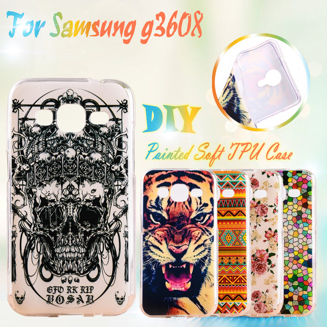 Soft TPU Cases For Samsung Galaxy Core Prime G360 G360H G3606 G3608 G3609 G361F G360F LTE SM-G3606 g361h Silicone TPU Phone Case
