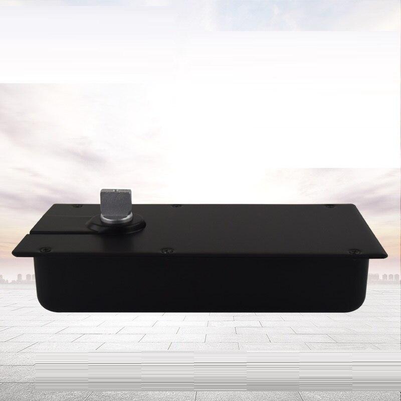 Pivot de ressort de porte en verre avec plaque de plancher Invisible et lourd en aluminium moulé charnière en verre de ressort de plancher de positionnement de 90 degrés - 2
