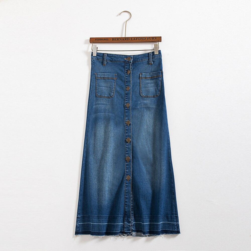Denim maxi falda vintage