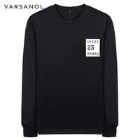 Varsanol Brand Clothing Casual Sweatshirt Mens Slim Coat Long Sleeve O Neck Outerwear Printed Pullovers Tops